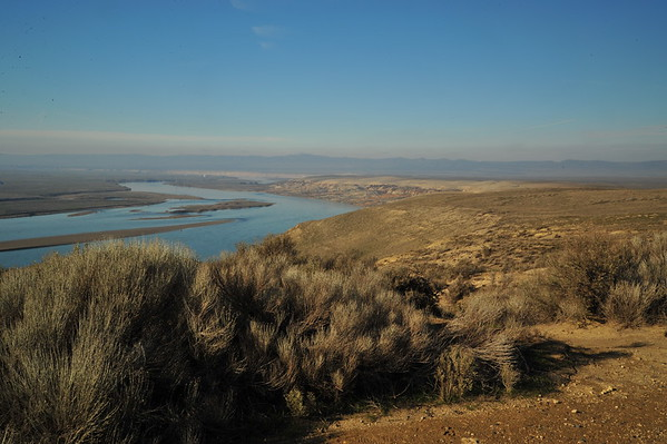 C0lumbia River Views at Hanford Reach, from White Bluffs, 2-12-15
