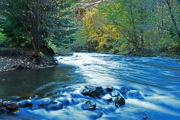 South Fork WW River (Fall), Nine-Mile Ridge (Fog), 10-20-15